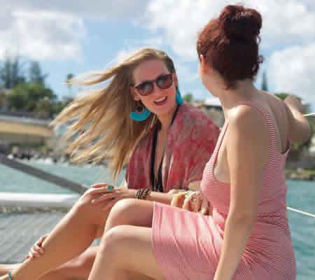Women on Catamaran Tour